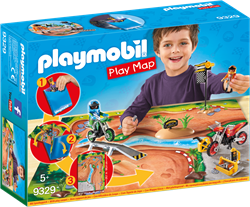 Playmobil Action Play Map Motorcrossers met plattegrond 9329