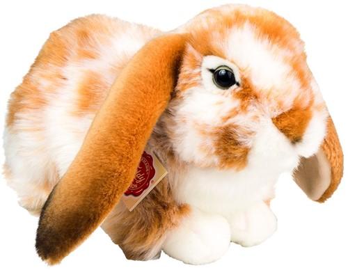 Hermann Teddy Hase liegend hellbraun-weiß gescheckt 30 cm