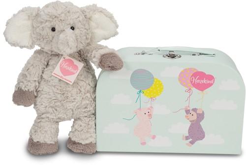Hermann Teddy Elefant Smartie mit Koffer 27 cm