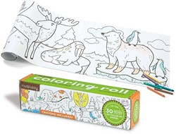 Mudpuppy Coloring Roll - Animals of the World