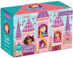 Mudpuppy 100 PC Glitter Puzzle - Princess