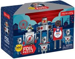 Mudpuppy 100 PC Foil Puzzle - Robotics