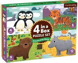 Mudpuppy 4 in a  Box - Animals of the World