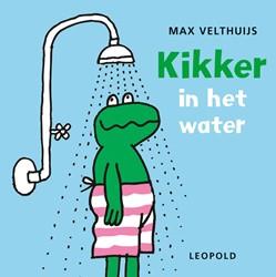 Leopold babyboek badboek kikker in het water