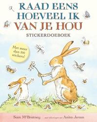 Kinderboek doeboek raad eens hoeveel ik van je hou stickerdoeboek