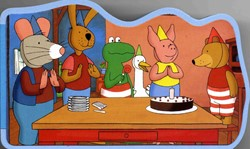 Kinderboeken  prentenboek Kikker en Vriendjes: Feest
