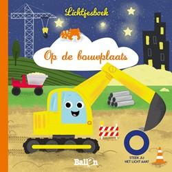 Kinderboeken voorleesboek lichtjesboek op de bouwplaats