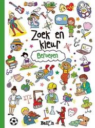 Kinderboek kleurboek zoek en kleur beroepen