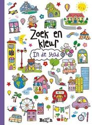 Kinderboeken Kleurboek zoek en kleur in de stad