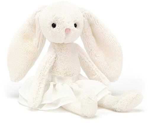 Jellycat - Wit Konijn met Rokje - 20cm