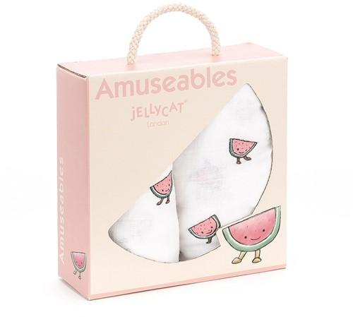 Jellycat - Amuseable Watermelon Neteldoek 2-pack - 70cm