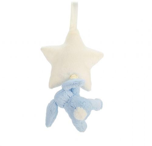 Jellycat Muziekknuffel Bashful Blauw Konijn Ster-3