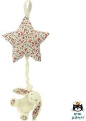 Jellycat Blossom Cream Bunny Star Musical Pull - 28cm