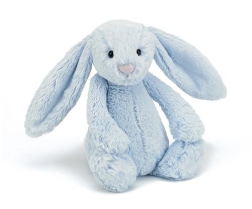 Jellycat Bashful Blauw Konijn Baby