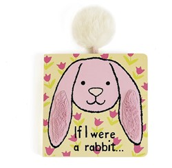 Jellycat If I were a Rabbit Board Book (Pink) - 15cm