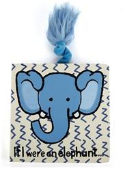 Jellycat If I Were an Elephant Board Book - 15cm