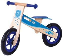 BigJigs houten loopfiets Blauw