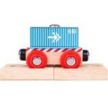 Bigjigs Container Wagon - Blue (4)