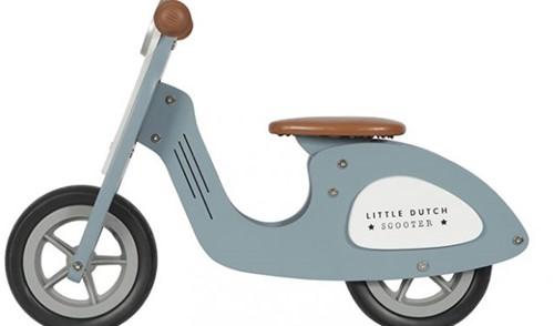 Little Dutch Little Dutch Houten scooter   blauw
