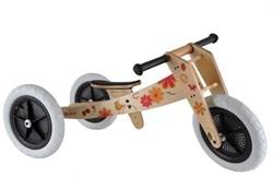 Wishbonebike  houten loopfiets 3 bikes in 1 - Bloemen