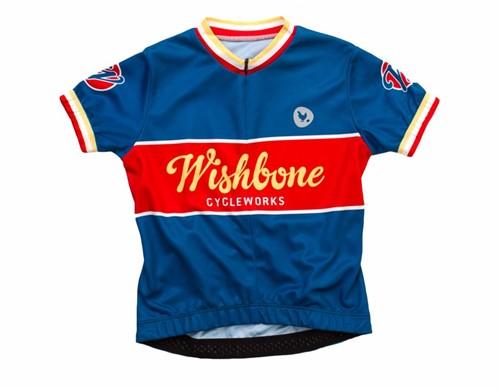 Wishbonebike  kinderkleding Wishbone Jersey blauw S