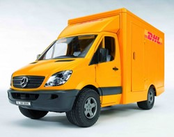 Bruder  - MB sprinter DHL + handpallettruck
