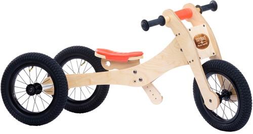 Trybike houten loopfiets 4 in 1 oranje