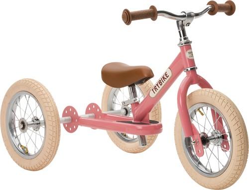 Trybike loopfiets 2-in-1 staal vintage roze