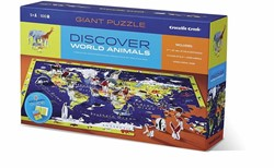 Crocodile Creek Discover Puzzle - World
