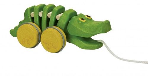 Plan Toys  houten trekfiguur Dancing Alligator