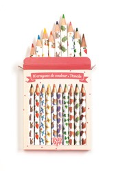 Djeco kleurpotloden 10 Aiko mini coloured pencils