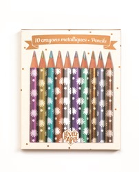 Djeco kleurpotloden 10 Chic mini metalic pencils