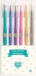 Djeco gelpennen 6 glitter gel pens