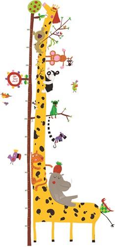 Djeco Groeimeter Giraf Met Jungledieren