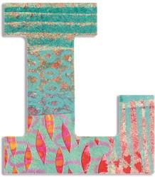 Djeco houten letter L - Peacock