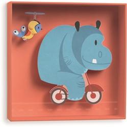 Djeco 3d schilderij Hippopotamus - 18,5x18,5x4cm