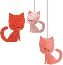 Djeco hang decoratie Perched cats