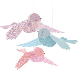 Djeco hang decoratie Glitter birds