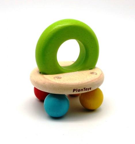 Plan Toys houten belletjes rammelaar
