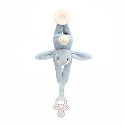Jellycat Bashful Blue Dummy Holder - 19cm