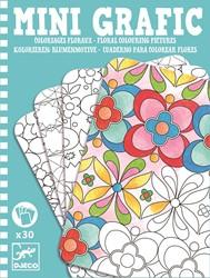 Djeco kleurplaten Floral