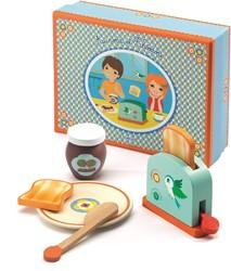 Djeco houten keukenaccessoire ontbijtset Aurora & Théodore