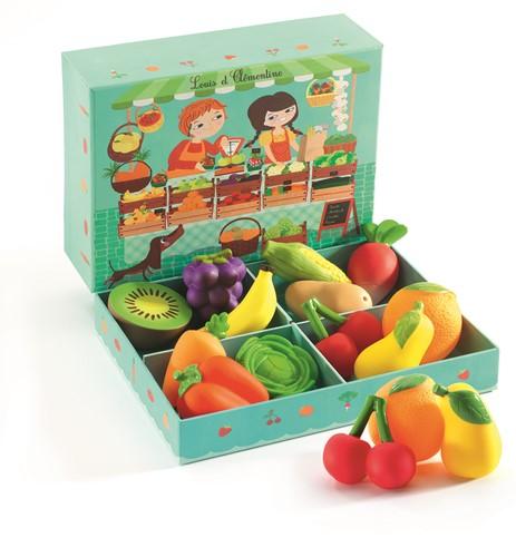 Djeco Speelset Fruit- En Groentekraam Louis & Clémentine