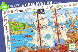 Djeco puzzel Piraten - 100 stukjes