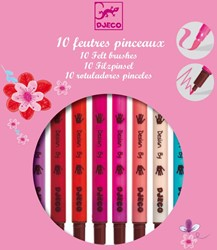 Djeco 10 felt brushes - Sweet