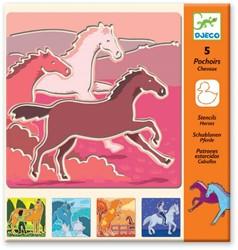 Djeco sjablonen Horses