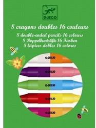 Djeco 8 twins crayons