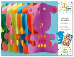 Djeco knutselspullen Knutselen met stickers hond