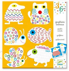 Djeco creatief Graphism animals