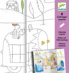 Djeco kleurplaat Hide-and-Seek